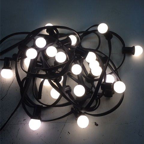 Prikkabel 10 meter LED warm wit